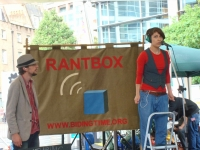 RantBox at CREATE Festival, Spitalfields London, July 2011